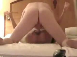 Guy pounds my pussy in hotel room