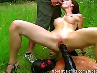 fisting and pissing on the hot doxy outdoors