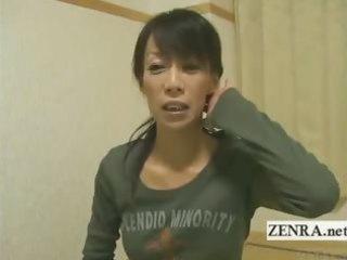 Subtitled mature female japanese bodybuilder