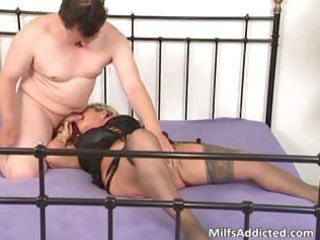 lascivious blond mum blows jock and daughter part1