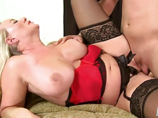 mature jenna uses all her holes to receive a lad