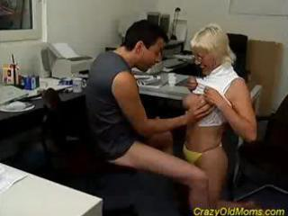 blond crazy old mamma blowjob