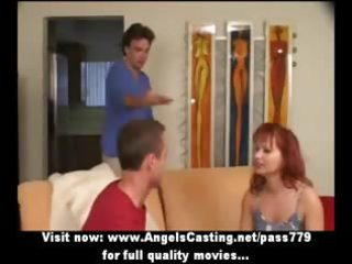 redhead mother i as bride does blowjob for big