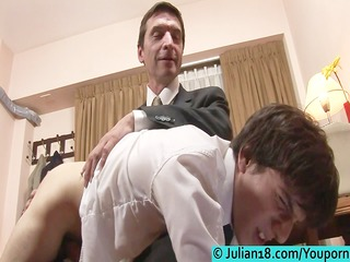 twink plays with mature wang