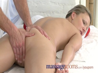 Massage Rooms Innocent young clits are aroused by