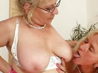 wellendowed grandma permeates a milf