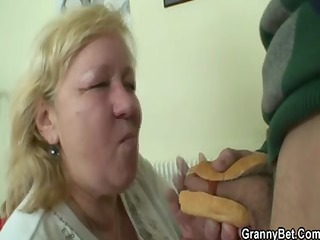 a pleasing surprise for huge granny