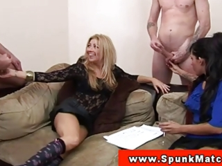 cfnm milfs surrounded by stroking guys