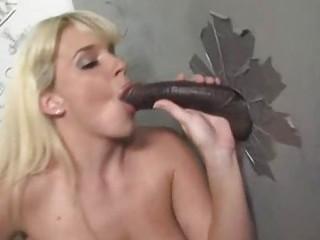 milf goes black at a gloryhole