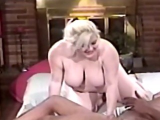 fat milf golden-haired blowing large dark wang