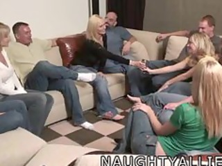 party game leads to a massive orgy swinger wives