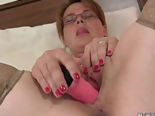 he is finds her masturbating and offers his pecker