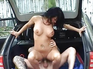 busty amateur wife fucked in a car with spunk