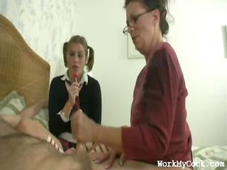 Mom Handjob