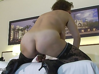 big titted mamma playing with her toys