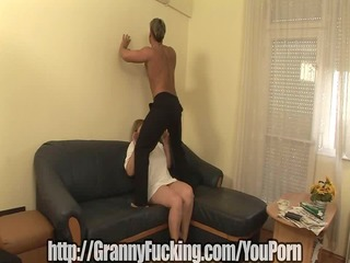 plump granny pounded