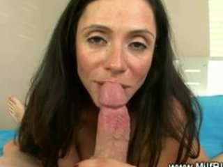 horny milf masturbates then oral and russian