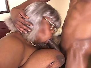 big beautiful woman dark grandma gets a piece of
