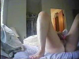 my mummy masturbating in the mornin. hidden cam.
