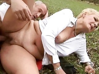 granny acquires fucked pretty hard outdoor