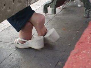 older candid shoeplay