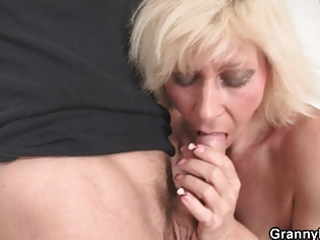 granny drilled by youthful boy
